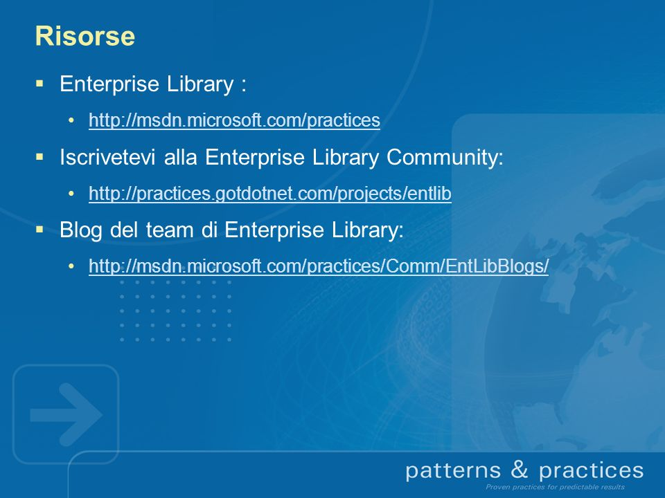 Risorse Enterprise Library :