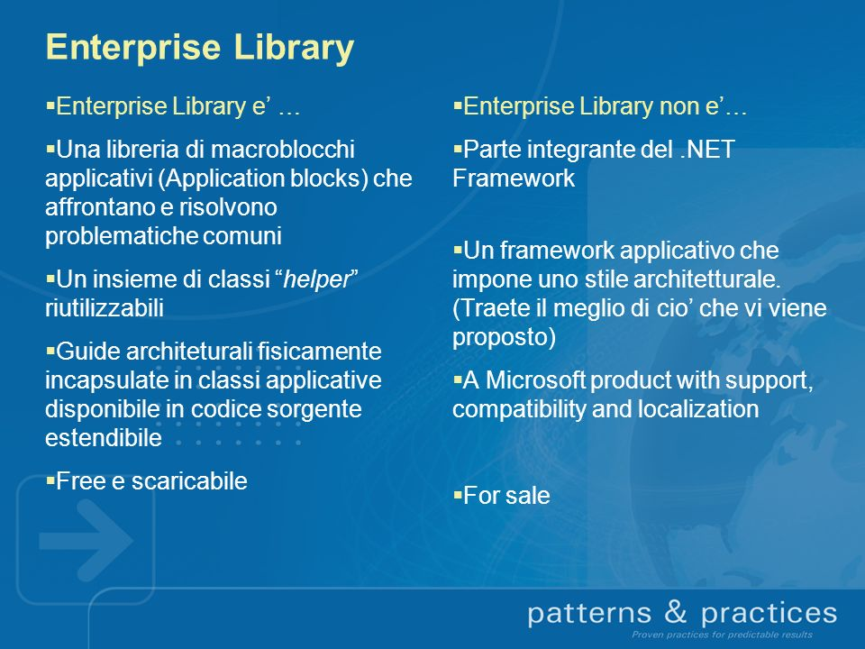 Enterprise Library Enterprise Library e' …