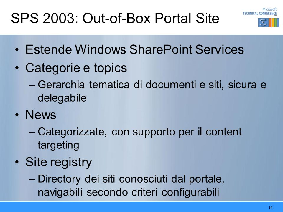 SPS 2003: Out-of-Box Portal Site