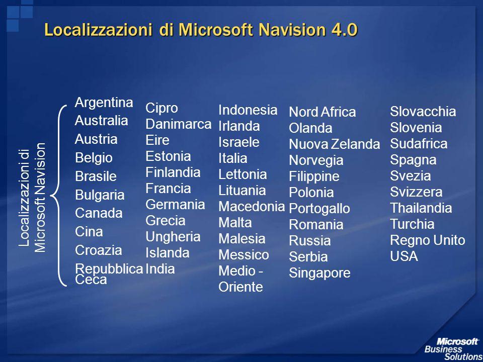 Localizzazioni di Microsoft Navision 4.0