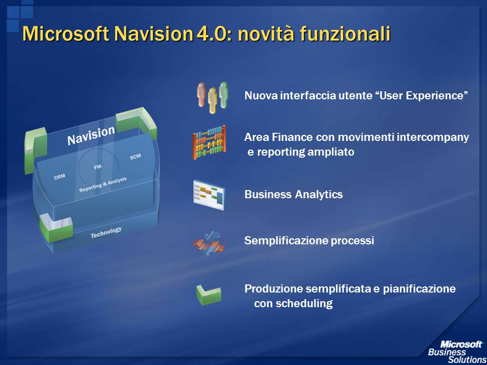 Microsoft Navision 4.0: novità funzionali