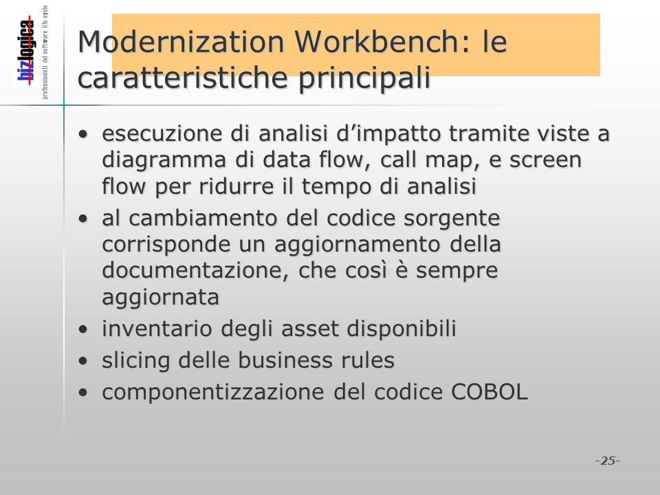 Modernization Workbench: le caratteristiche principali