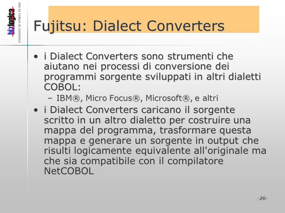 Fujitsu: Dialect Converters