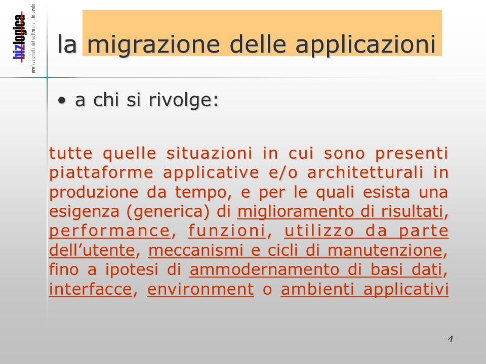 la migrazione delle applicazioni