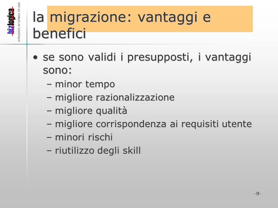 la migrazione: vantaggi e benefici