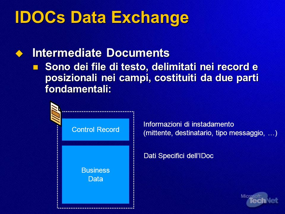 IDOCs Data Exchange Intermediate Documents