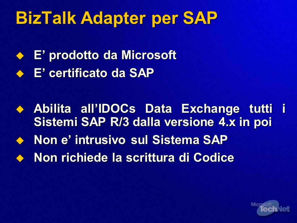 BizTalk Adapter per SAP