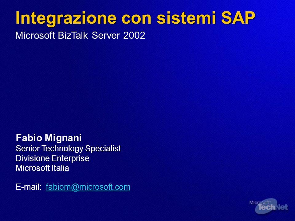 Integrazione con sistemi SAP