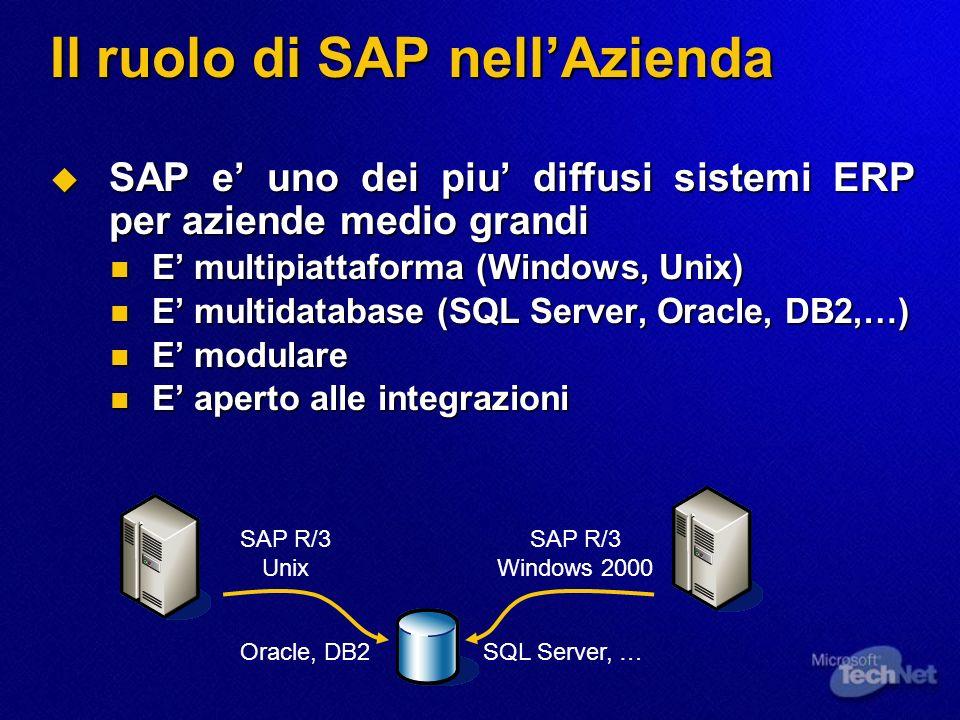 Il ruolo di SAP nell'Azienda