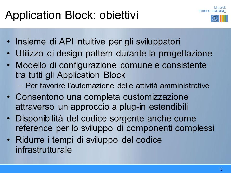 Application Block: obiettivi