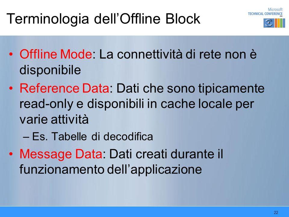Terminologia dell'Offline Block
