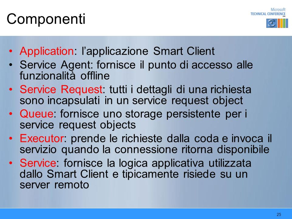 Componenti Application: l'applicazione Smart Client