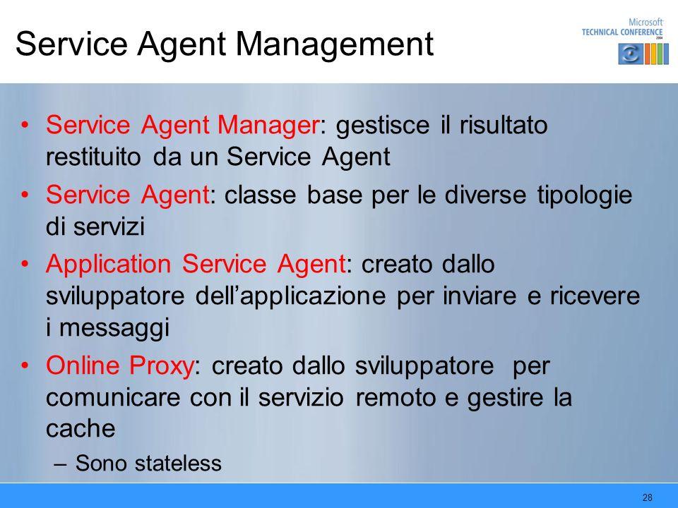 Service Agent Management