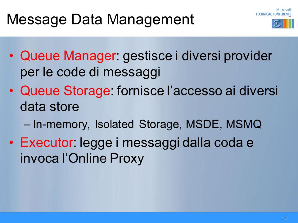 Message Data Management