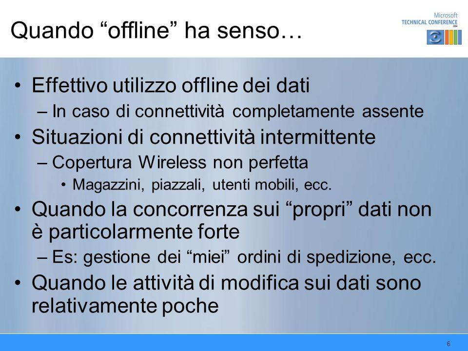 Quando offline ha senso…