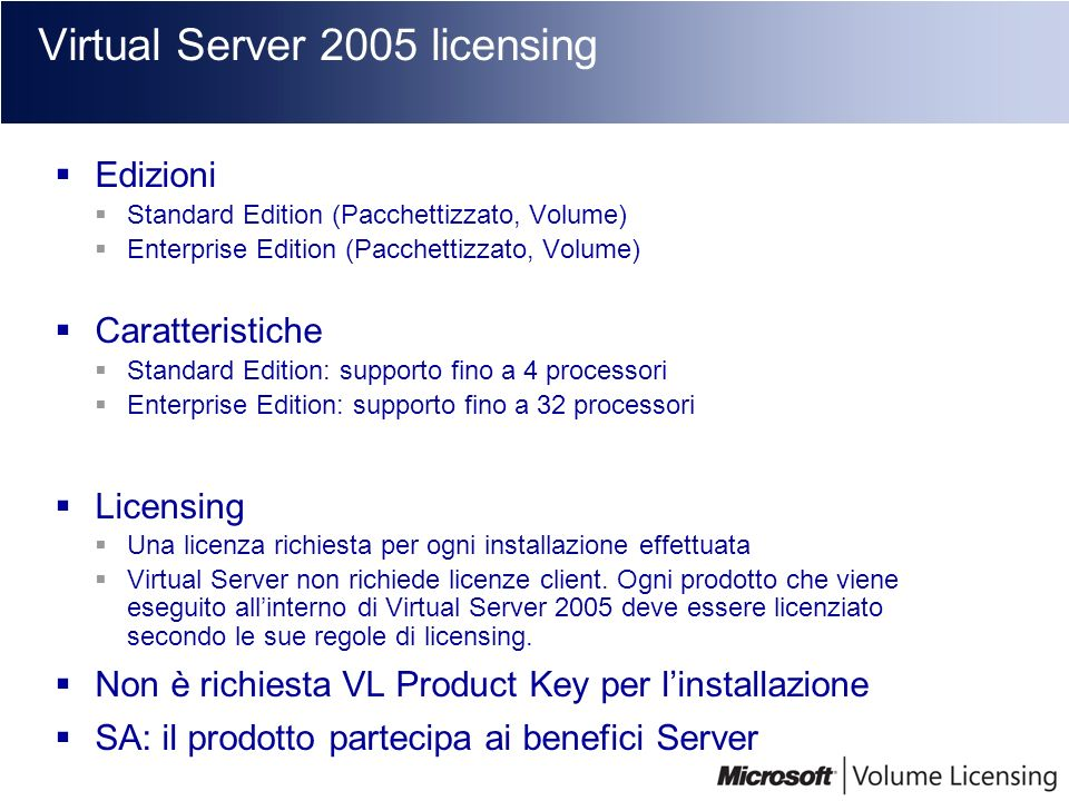 Virtual Server 2005 licensing