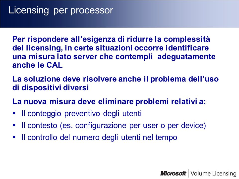 Licensing per processor