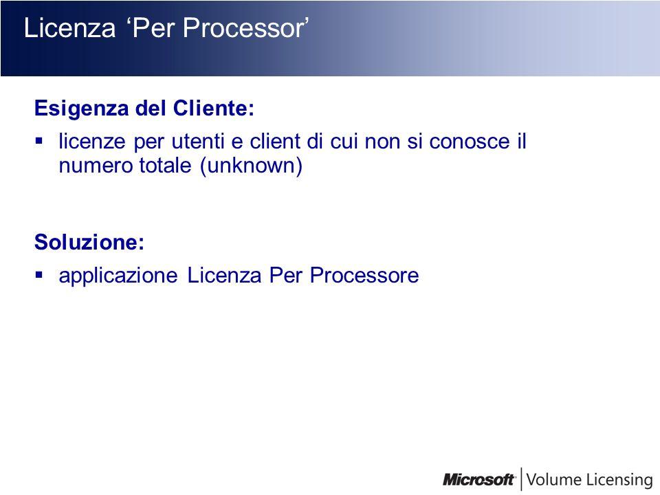Licenza 'Per Processor'