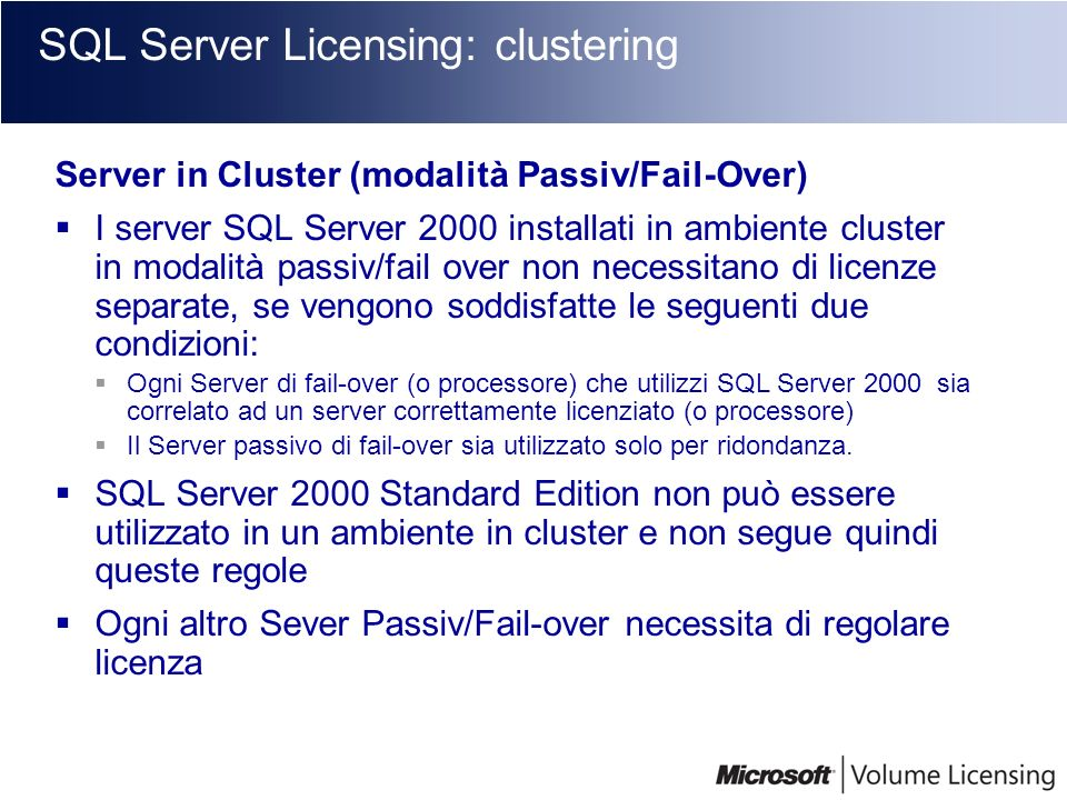 SQL Server Licensing: clustering