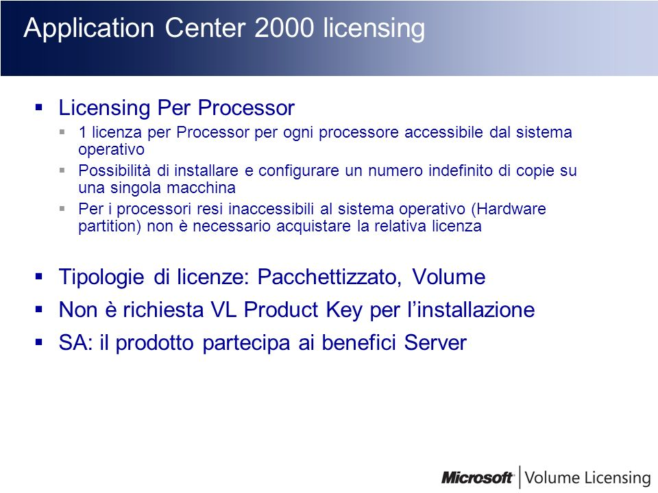 Application Center 2000 licensing
