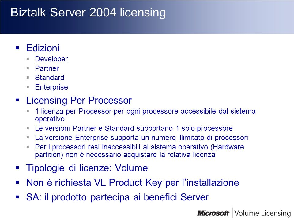Biztalk Server 2004 licensing