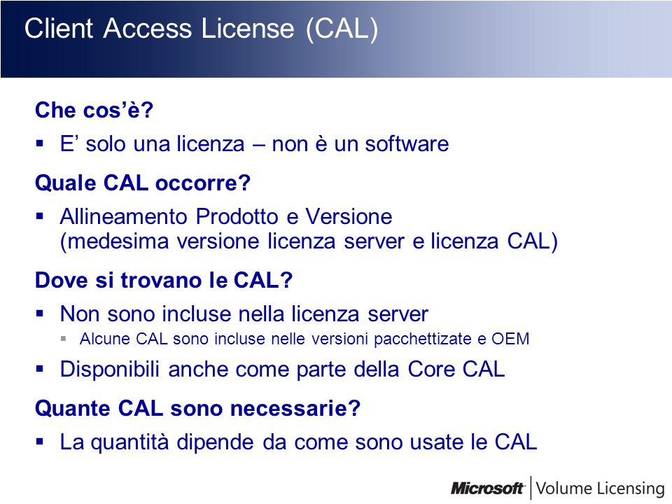 Client Access License (CAL)