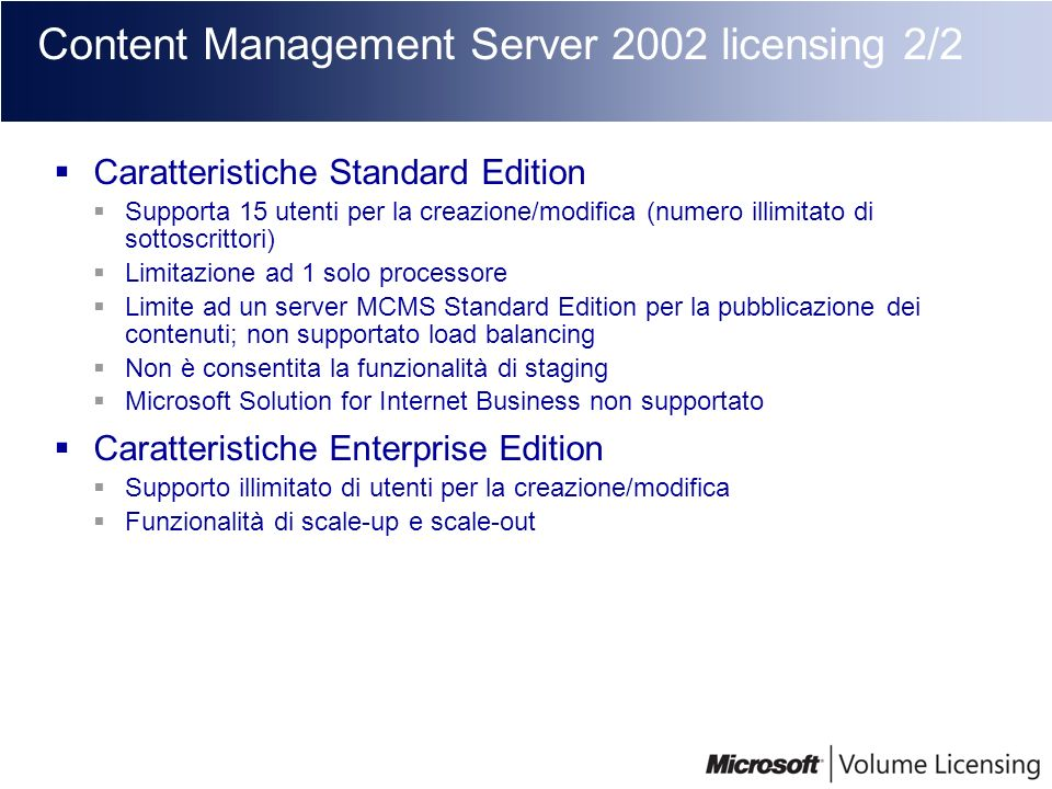 Content Management Server 2002 licensing 2/2