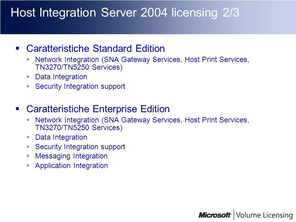 Host Integration Server 2004 licensing 2/3
