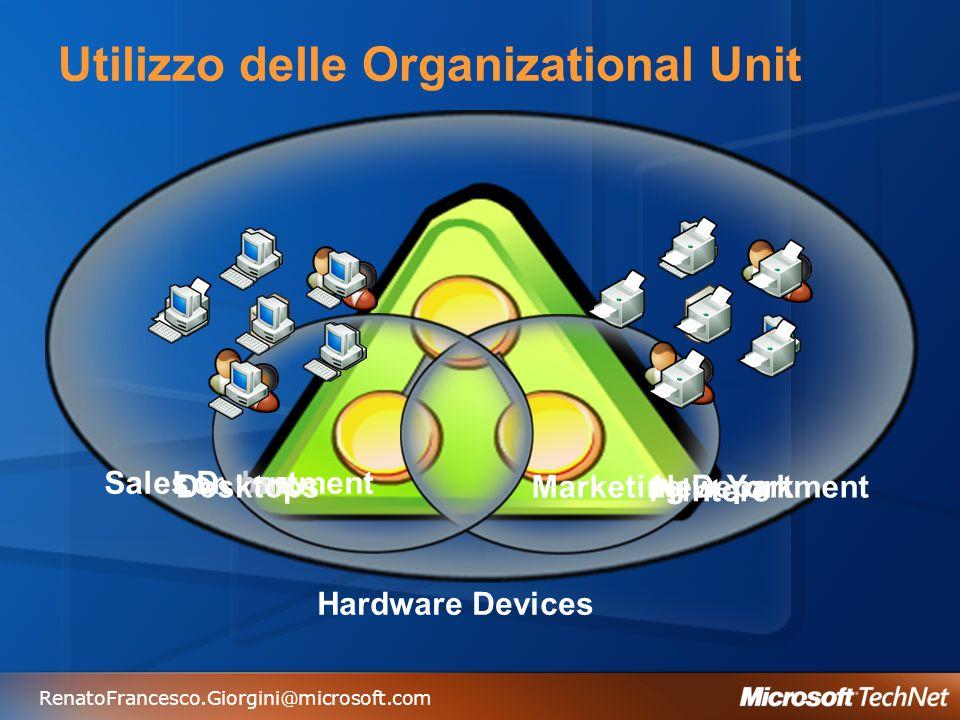 Utilizzo delle Organizational Unit