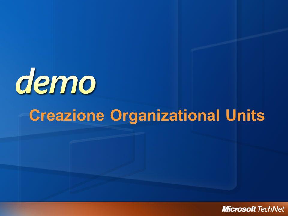 Creazione Organizational Units