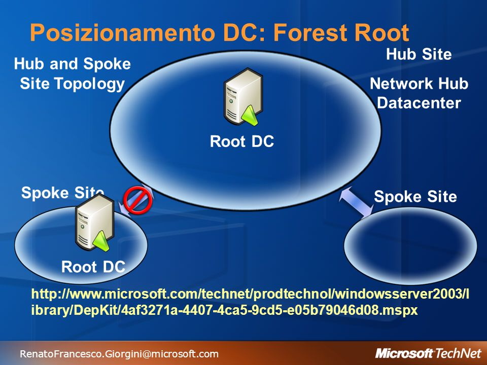 Posizionamento DC: Forest Root