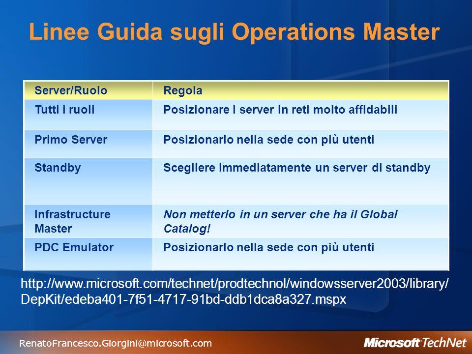 Linee Guida sugli Operations Master
