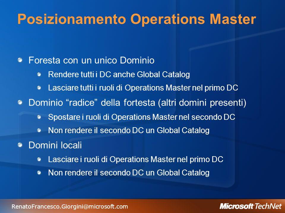 Posizionamento Operations Master