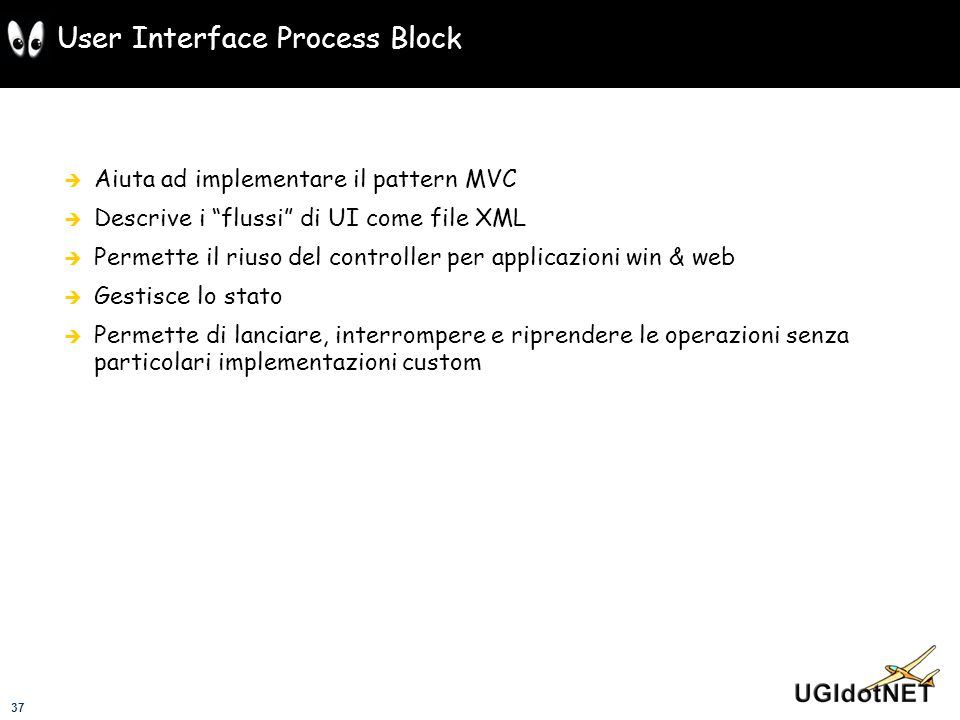 User Interface Process Block