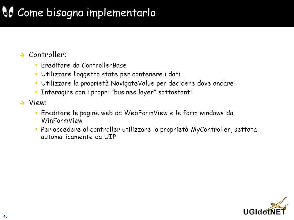 Come bisogna implementarlo