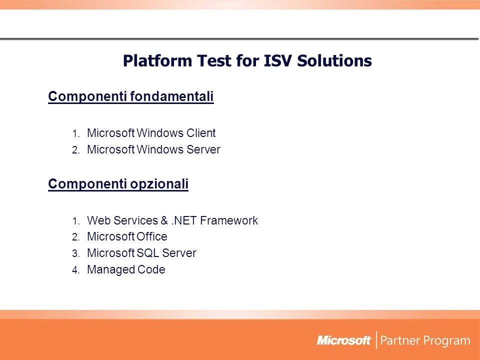 Platform Test for ISV Solutions