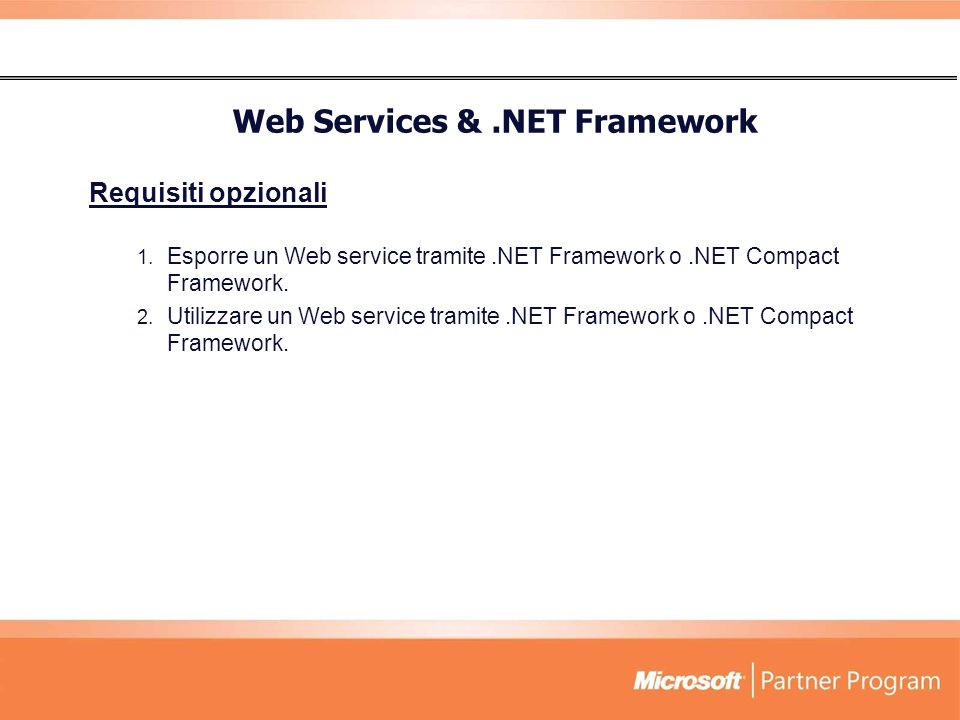 Web Services & .NET Framework