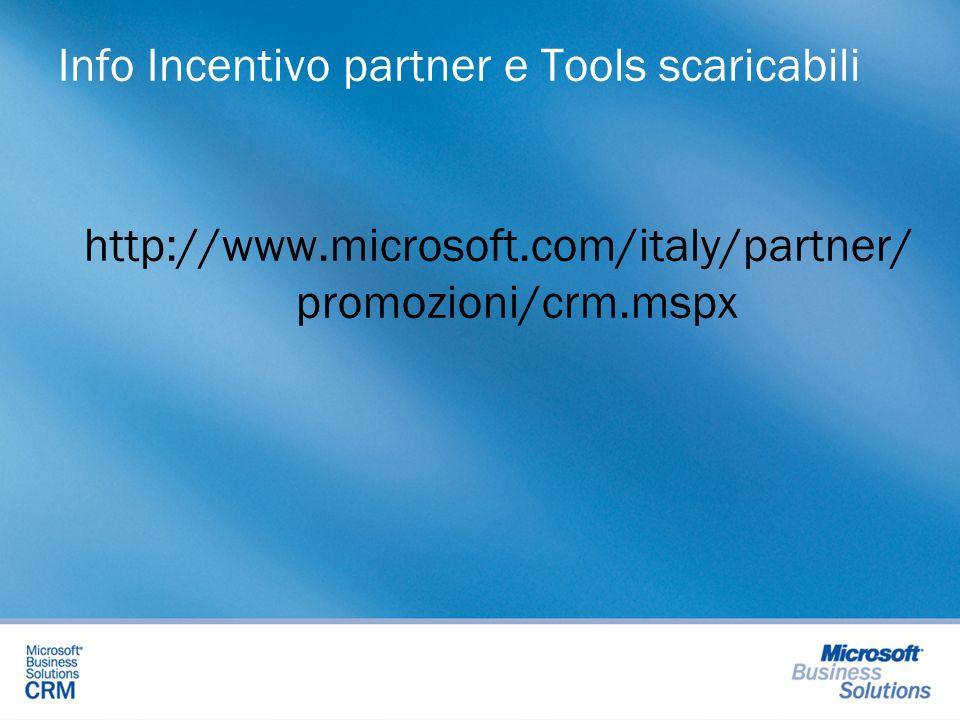 Info Incentivo partner e Tools scaricabili