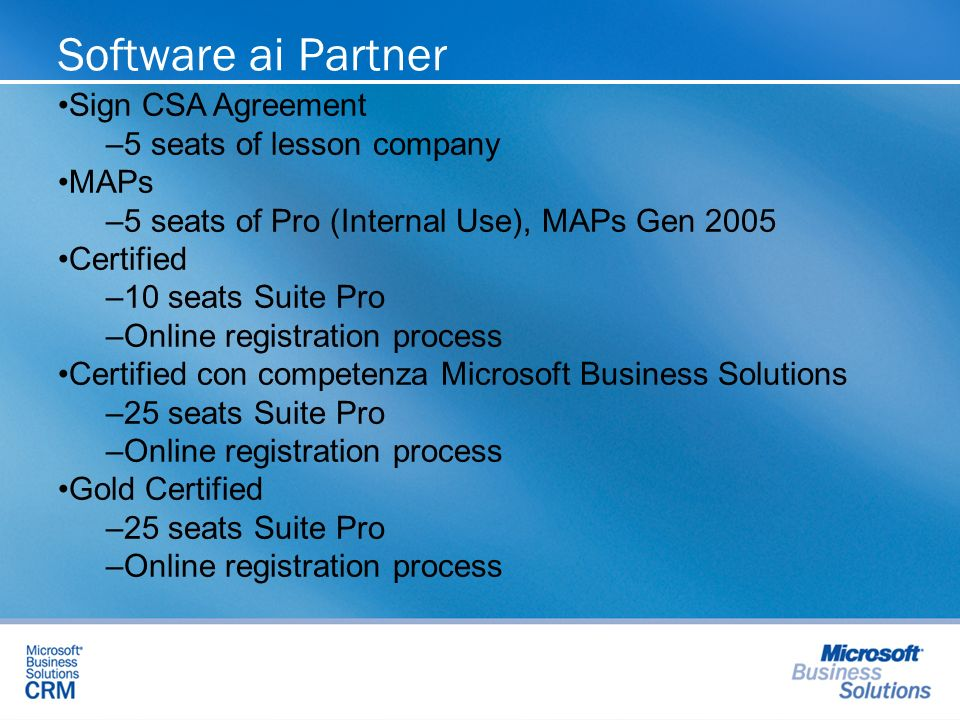 Software ai Partner Sign CSA Agreement 5 seats of lesson company MAPs