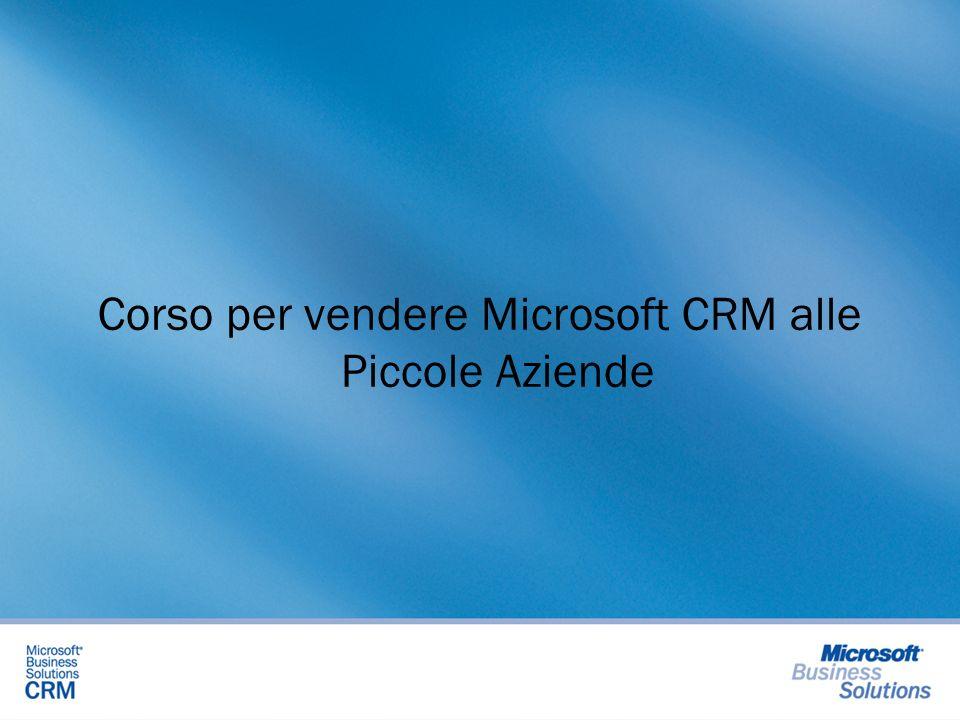 Corso per vendere Microsoft CRM alle Piccole Aziende