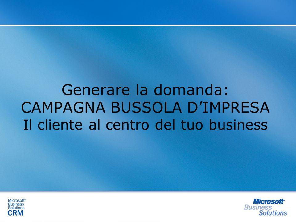 Generare la domanda: CAMPAGNA BUSSOLA D'IMPRESA Il cliente al centro del tuo business