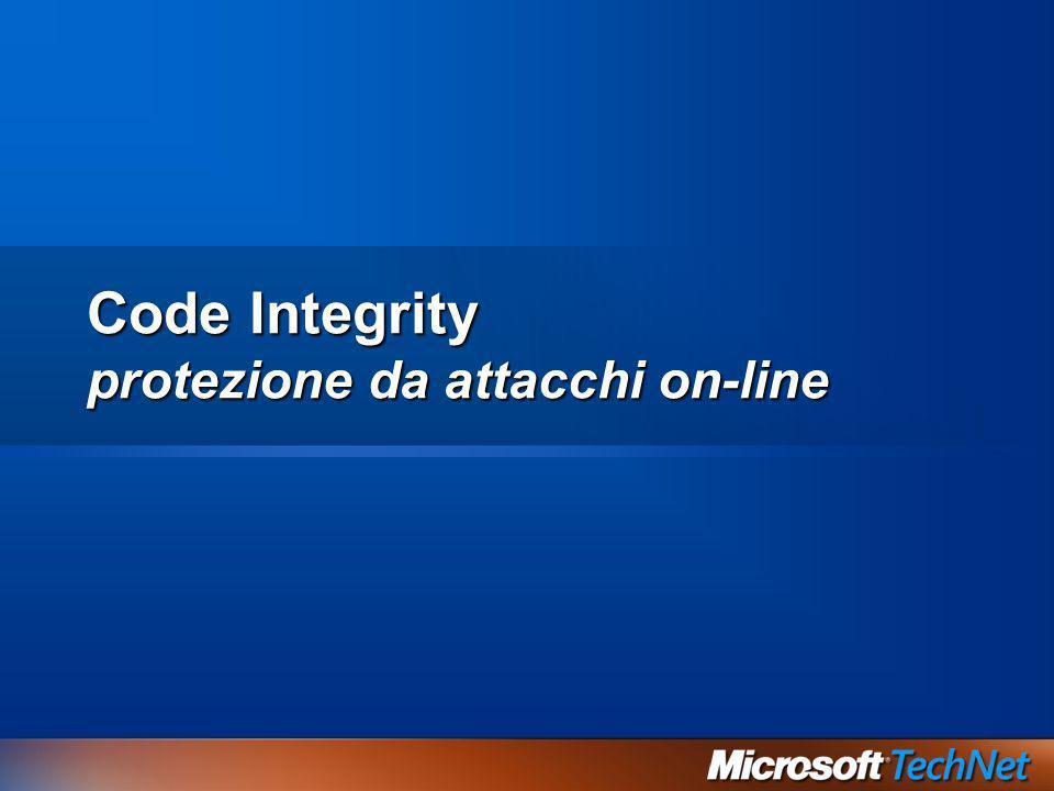 Code Integrity protezione da attacchi on-line