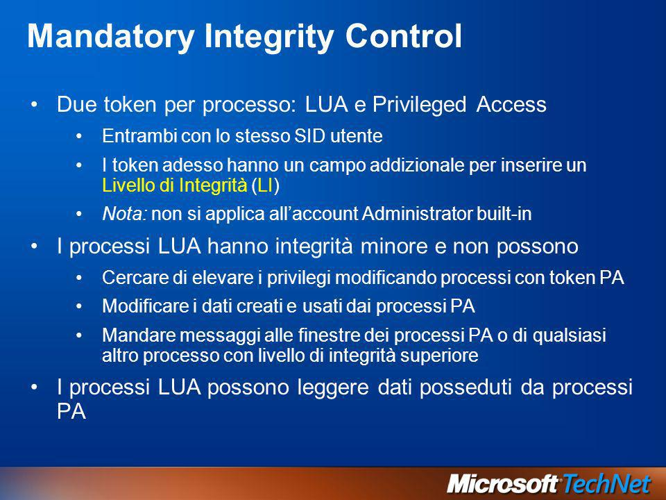 Mandatory Integrity Control