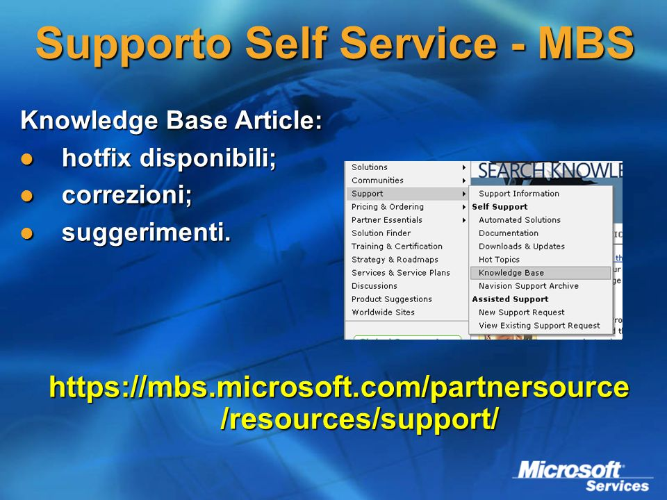 Supporto Self Service - MBS