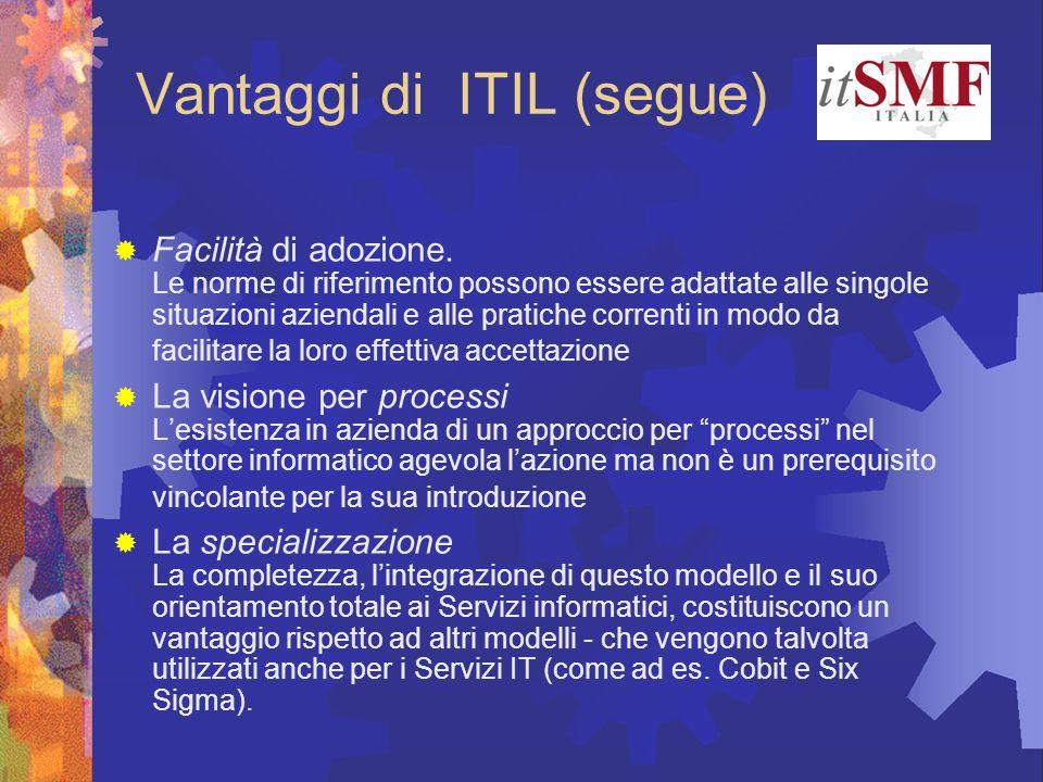 Vantaggi di ITIL (segue)