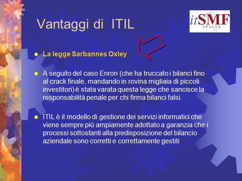 Vantaggi di ITIL La legge Sarbannes Oxley