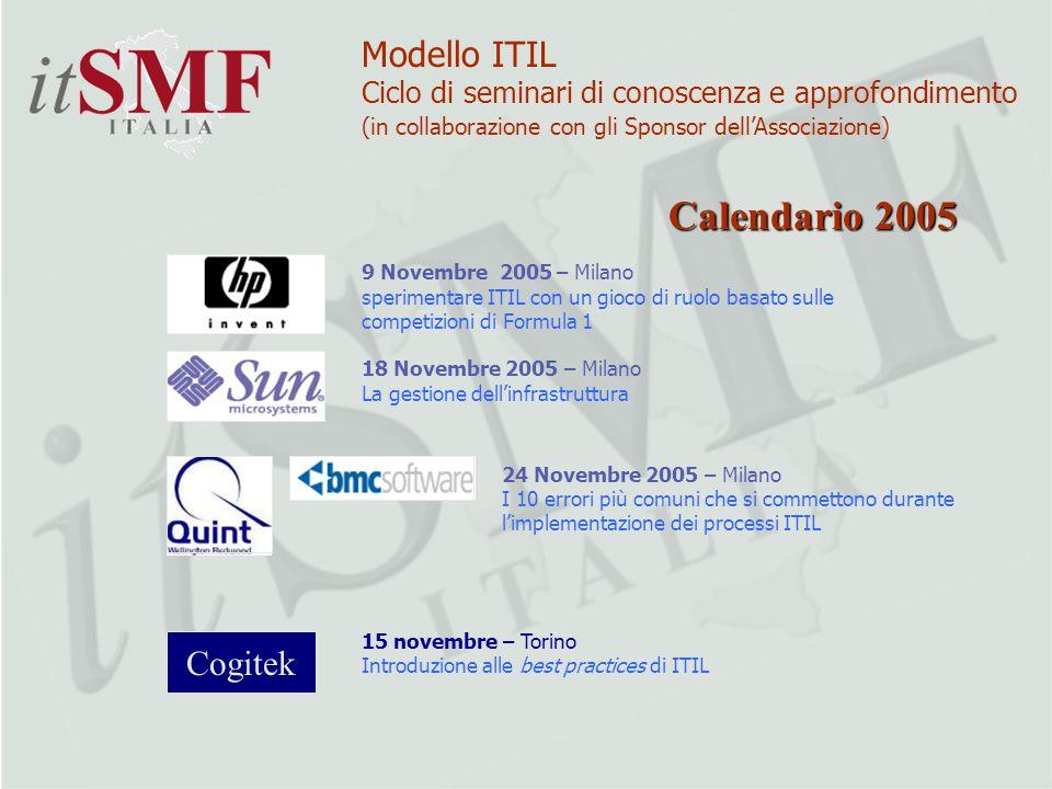 Calendario 2005 Modello ITIL Cogitek