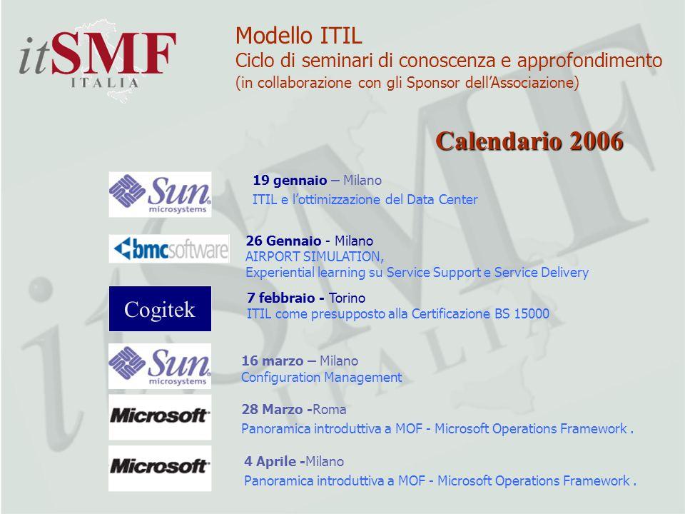 Calendario 2006 Modello ITIL Cogitek