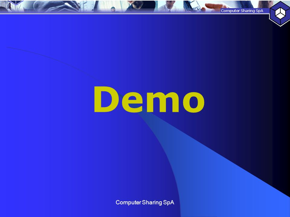 Demo Computer Sharing SpA