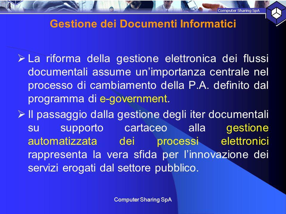 Gestione dei Documenti Informatici